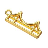 antique gates - Good Qulaity a Zinc Alloy Antique Silver Gold Floating Golden Gate Bridge Pendant Charms For Living Locket DIY Jewelry