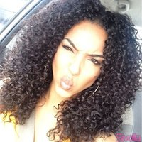 glueless full lace wig - Free Ship Reliable Quality Deep Curly Brazilian Vrigin Human Hair Natural Black B Glueless Full Lace Wigs and Lace Front Wigs With Baby Hai
