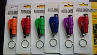 Wholesale New arrival hot sale Emergency Hammer in Whistle Seat Belt Cutter Window Break Keychain