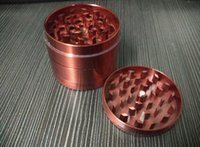 molinillo de hierbas tamaño amoladora fumar amoladora CNC dientes cnc moledora de metal tabaco 55mm 4 piezas mezclan diseños