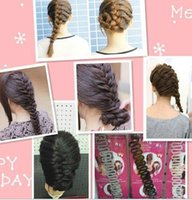 Wholesale Fashion Hair Braiding Braider Tool Roller With Magic hair Twist Styling Bun Maker order lt no tracking