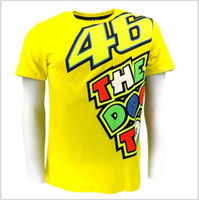 Wholesale MotoGP Valentino Rossi VR46 T shirt THE DOCTOR T shirt MotoGP fans T shirt MEN S S M XL XL YELLOW