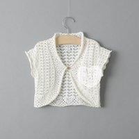 swing - 2015 Spring New Cardigan Cotton handmade little girls waistcoat Wrap Swing T