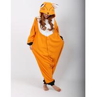adult sleep wear - New Adult Animal Sleepsuit Pajamas Costume Cosplay Fox Onesie Fancy Dress Costume Hoodies Pyjamas Sleep wear