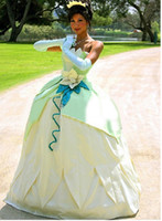 Wholesale Fantasia the Princess and the Frog adult princess tiana costume Dress Adult cosplay Costumes for Women custom made
