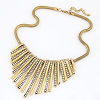 Wholesale 2015 Metal Fashion Necklaces Choker Statement Necklace For Women Accessories Luxury Pendant Collar Gold Silver Color Sweater Chain