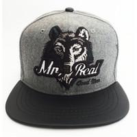 Cheap Fashion winter wool men women woolen wolf flat hiphop snapback baseball cap hats