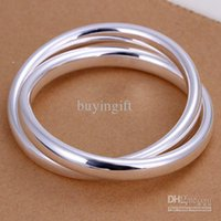 Wholesale Babyonline Hot sales High quality fashion trend silver charm Beautiful big ring Ms bracelet jewelry Holiday gifts B150