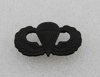 airborne wings - US Black Subdued Military Insignia AIRBORNE PARATROOPER WINGS BADGE PIN