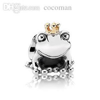 """Cheap Wholesale-PS813 European 925 Sterling Silver bead """"Frog Prince"""" charm, Minimum order limited is US$15"""