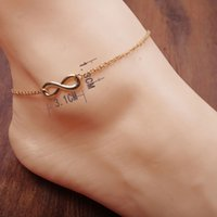 Wholesale foot chain Korean rose gold plated chains heart engraved letter foot anklet Hot Celebrity Simple Plated Toe Ankle Bracelet Anklet