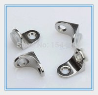 Wholesale 50pcs Never rust glass suction tray Shelf support metal glass fittings price trumpet