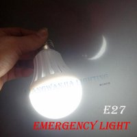 Wholesale LED Emergency Bulb W W Led Intelligent Light Rechargeable Battery Lights Warm Cool White E27 SMD For Home Indoor Lighting