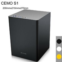 Wholesale omputer Components Computer Cases Towers Mini ITX Chassis HTPC case USB3 HDD ATX Power Supply all alumi