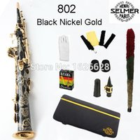 Wholesale EMS Genuine France Selmer Soprano Saxophone Professional B Black Sax mouthpiece With Case and Accessories