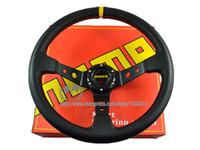 Wholesale mm MOMO Deep Corn Rally Steering Wheel PVC Carbon Fiber Look High Quality