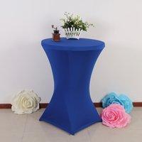 Wholesale blue lycra bar tablecloths cm pieces per