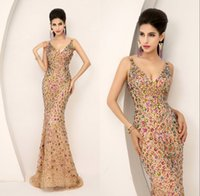 One-Layer Elbow Length Ribbon Edge 2015 New Evening Gown Prom Pageant Dresses Ready To Wear Real Image Dazzling Luxury Plunging Neckline Full Beaded Crystal Champagne