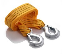 auto recovery - X3M Tons Car Truck Auto Tow Cable Towing Strap Rope with Hooks Road Recovery Emergency Sring