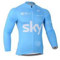 Wholesale 2014 SKY Pro team blue sk2 winter fleece THERMAL only long sleeve cycling jersey bike Clothing maillot s16