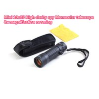 Wholesale 10x25 High clarity spy Monocular telescope x optical len zoom magnification HD telescopio monocular low price