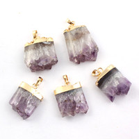 amethyst geode - 2014 New Different Amethyst Crystal Geode Druzy Natural Gem Stone Reiki Pendulum Pendant Charms Healing Chakra European Fashion Jewelry