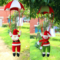 Wholesale Christmas Tree Hanging Decorations New Parachute Santa Claus Snowman Ornaments Christmas Decor