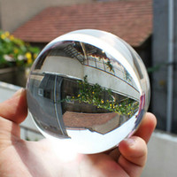 Wholesale 100mm Clear Round Glass Artificial Crystal Healing Ball Sphere Decoration