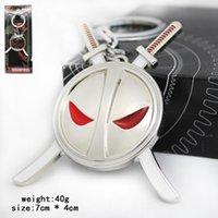 antique child sale - Deadpool Toys Keychains Necklace Zinc Alloy Material Design Children Movie X men Superhero Hot Sale