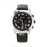 Wholesale CURREN Novelty Real Hands Genuine Leather simple table Cool Men Business Mens Watch Relogio