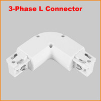 aluminum joiner - 3 Phase Circuit Wire Light Rail Track connector Middle Feed Rail Joiner aluminum track accessories lighting track system Black White