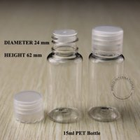 plastic shampoo bottles - 15ml x20 Plastic PET Lotion Bottle With Stopper Insert Lid For Cosmetic Packaging Travel Lotion Cream Shampoo Container Bottles