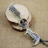 axe keychain - League Of Legends Game LOL Draven Glory Execution Officer Weapon Axe CM Metal Pendant Key Ring Keychain In Box ZSC
