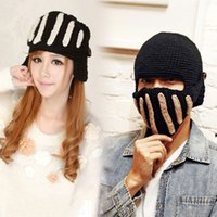 Wholesale Unique Roman Cavalry Hat Winter Windproof Hat Unisex Warm Knitted Crochet Ski Cycling Face Mask Cap Beanie Cap New Hot Selling