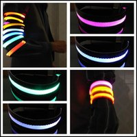 Cheap 2015 CHRISTMAS Safety High Quality Outdoor Sports Flashing LED Armband 8colors Armlet Show Party Dance Christmas led gifts