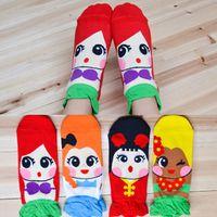 Wholesale 8 Styles Cartoon stereoscopic Mermaid Snow White socks women girls lovely cartoon socks new Fashion cotton short socks Hosiery