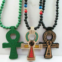 Wholesale ANKH Egyptian Power of Life Good Wood Hip Hop Goodwood Fashion Necklace