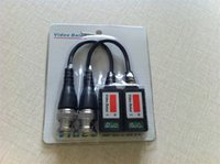 Wholesale 500pcs FEDEX DHL SHIP Camera CCTV BNC CAT5 Video Balun Transceiver Cable with packing