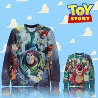 toy story clothing - FG1509 Raisevern First issue Toy Story woody bear print sweatshirt cute cartoon hoodie hood boy girl popular streetwear top clothes