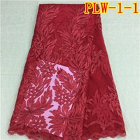 Wholesale Red light and soft African organza net lace for garment PLW