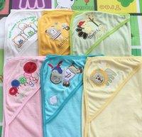 Wholesale 2013 NEW cm Cartoon Cotton Kids Baby Blanket mat for Infant Bath Blanket Color random