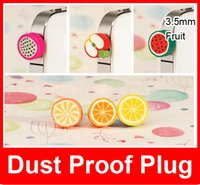 Wholesale New Dust Proof Plug Anti Dust Cap Headphone Dustproof mm Fruit series Anti Dust Plug Iphone6 plus