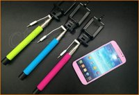 Wholesale Selfie Monopod Z07 plus Wired selfie stick Extendable Monopod Tripod With Shutter Release IOS android for s5 iphone plus Xmas Gift