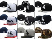 Ball Cap baseball cap brim styles - Top Quality Chicago White Sox Old Style Design baseball fitted hats cheap price sport brand flat brim closed caps