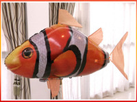 Wholesale Hot Drone air swimming remote control clown fish Nemo helium inflatable toys
