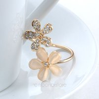 Cheap 2015 Fashion KoreanNew Crystal Rhinestone Starfish Flower Spiral Opening Midi Finger Ring RingsM*MHM756#Y2