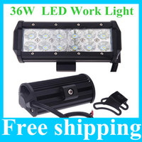 Wholesale 2X quot W Cree LED Work Light Bar Lamp Tractor Boat Off Road WD x4 v v Truck SUV ATV Spot Flood Beam Super Bright