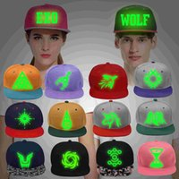 baseball skills - Ms WOLF EXO hat male hip hop cap Wu Yifan EXODUS fluorescent luminous Luhan skills baseball cap logo
