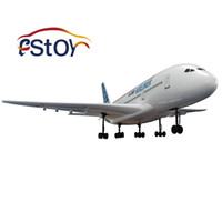 airbus planes - New RC Plane A380 Franch Super Largr AirBUS A380 Aieliner GHZ RC High Simulation aeroplane Toys with Air stunt