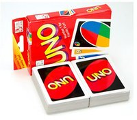 Wholesale 2015 Newest UNO Poker Card Standard Edition Family Fun Entermainment Board Game Kids Funny Puzzle Game Christmas Gifts R1250